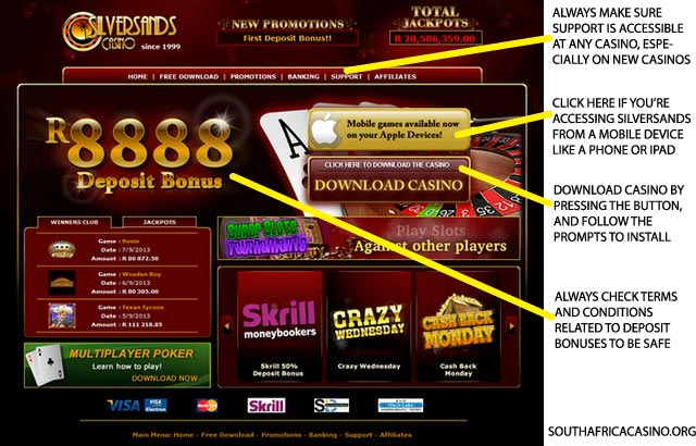silversands online casino book ra